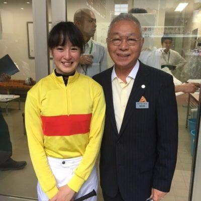 藤田菜七子騎手とDrコパ