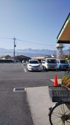 石和ウインズ前のコメダコーヒーから富士山